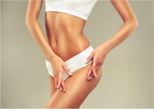 Woman with slender figure, achievable with CoolSculpting