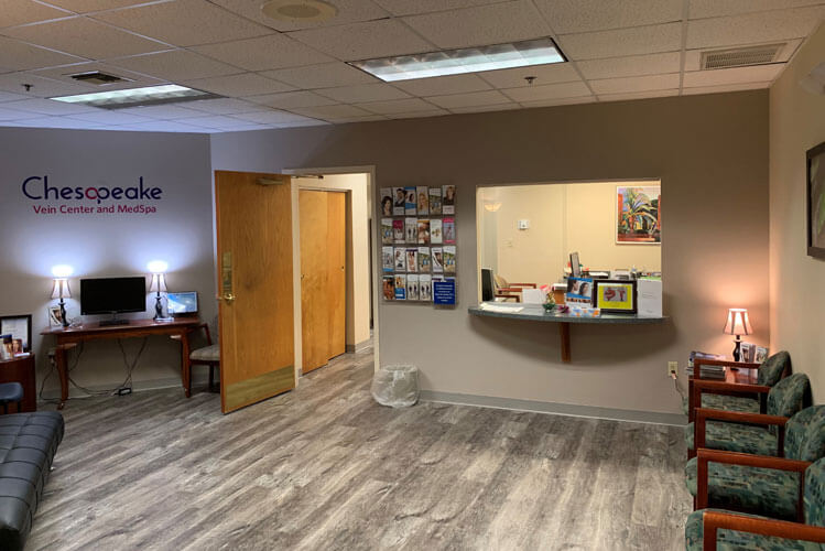 Treatment room at Chesapeake Vein Center and Medspa in Virginia